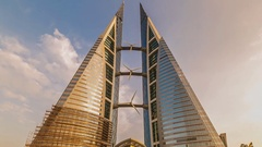 View of the city of Manama, capital of Bahrain (time-lapse) Stock Footage