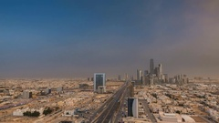 View of the city of Riyadh, the Saudi capital Stock Footage
