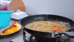 Cooking carrots Stock Footage