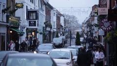 Typical English street on Christmas: Eton Stock Footage