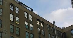 Establishing Shot of Office Building Top Floor   Stock Footage