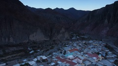 Argentina, Salta Province, Elevated view of Iruya. Stock Footage