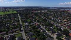 Struer Denmark Aerial - Bang Olufsen Hometown Stock Footage