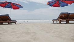 Kuta Beach Bali Indonesia Asia Ocean Slowmotion Stock Footage