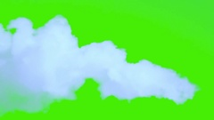 Blue smoke isolated, Vapor on a green background, chroma key. Stock Footage