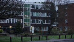 Typical council flats in England Stock Footage