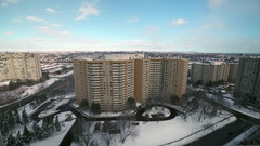 Apartment/Rental Housing complex in Winter. Stock Footage