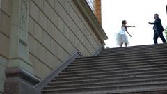 Dancing wedding couple. Stock Footage