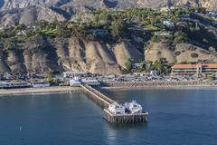 Malibu Pier Aerial Stock Photos