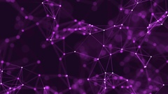 4k abstract loop color geometrical background with lines and dots Stock Footage