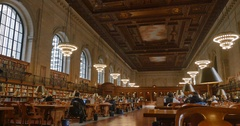 Interior Establishing Shot New York Public Library Stock Footage