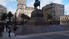 Palacio Salvo in Montevideo, Uruguay Stock Footage