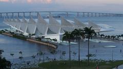 Museum of Tomorrow in Rio de Janeiro Stock Footage