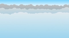 Blue Cloud Background Loop Stock Footage