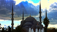 Sultan Ahmet Mosque. Istanbul December 2016 Stock Footage
