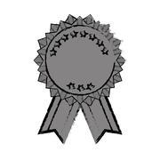 Isolated ribbon award Stock Illustration