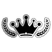 Crown royal symbol Stock Illustration