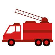 Truck fire rescue urgency attention Stock Illustration