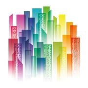 Urban city view Stock Illustration