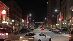Downtown night life Stock Footage