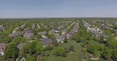 Midwest suburb 4k drone shot Stock Footage