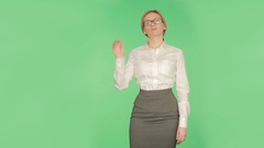 Body language. sexual looseness. women . chromakey,glasses in the mouth Stock Footage