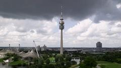 Olympiapark München Stock Footage