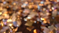 Party decoration: defocused lights on a glitter floor Stock Footage