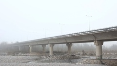 Elevated highway in mystery fog Stock Footage