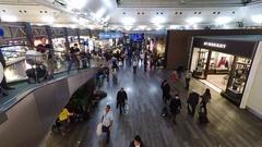 People inside airport Ataturk, Turkey Stock Footage