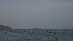 Nha-Trang resort city on seacoast in Vietnam Stock Footage
