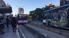 Taipei buses, Taipei City, Taiwan Stock Footage