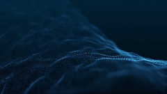 Slow Motion Formation of Particles Seamless Looping Motion Background Blue V2 Stock Footage