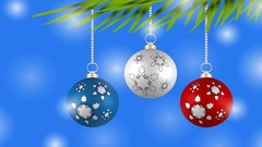 Christmas background with colorful balls. Christmas card. Christmas greeting. Stock Footage