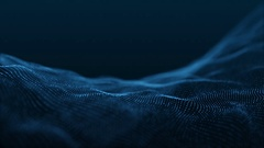 Slow Motion Formation of Particles Seamless Looping Motion Background Blue V3 Stock Footage