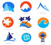 New in Shop : exotic hand-drawn Icons Stock Illustration