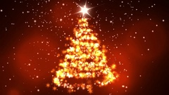 Christmas star with rotating christmas tree shape Stock Footage