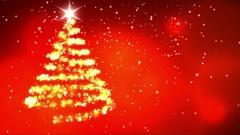 Christmas star with rotating christmas tree shape Stock Footage