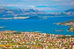 Trogir, Ciovo, Split and Biokovo mountain panorama Stock Photos