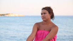 A Young Woman With Concerns Stock Footage