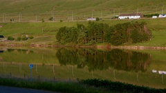 VEHICAL REFLECTIONS M62 MOTORWAY WEST YORKSHIRE Stock Footage