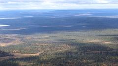 Aerial view from Pallas-Yllästunturi National Park Arkistovideo
