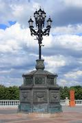 Church lantern on a pedestal Stock Photos
