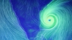 Hurricane moving from space Stock Footage