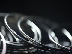 Metal Bangles Stock Footage