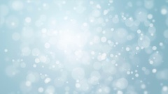 Blue bokeh background with flickering lights Stock Footage