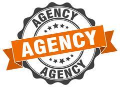 Agency stamp. sign. seal Stock Illustration