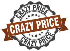 Crazy price stamp. sign. seal Stock Illustration