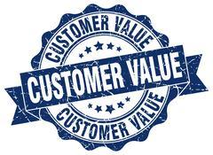 Customer value stamp. sign. seal Stock Illustration