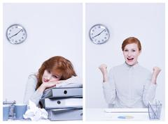 Overworked and efficient worker Stock Photos